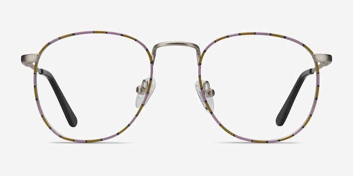 Blossom Silver Floral Metal Eyeglass Frames from EyeBuyDirect, Front View