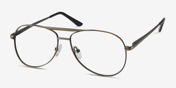 Discover Bronze Metal Eyeglass Frames from EyeBuyDirect, Angle View