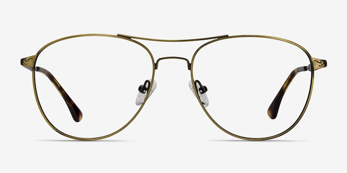 Westbound Bronze Metal Eyeglass Frames from EyeBuyDirect, Front View