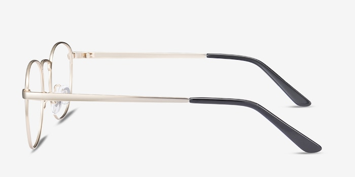St Michel Golden Metal Eyeglass Frames from EyeBuyDirect, Side View