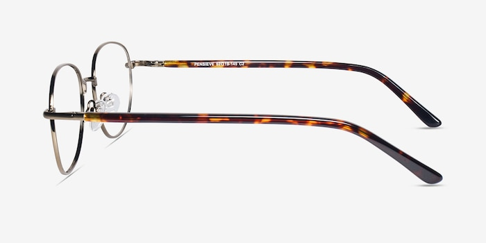 Pensieve Bronze Metal Eyeglass Frames from EyeBuyDirect, Side View