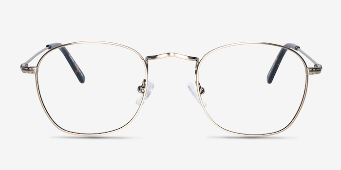 Sonder Bronze Metal Eyeglass Frames from EyeBuyDirect, Front View