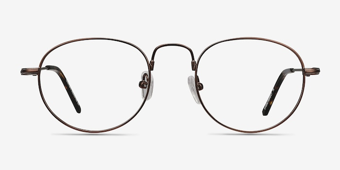 Chutzpa Coffee Metal Eyeglass Frames from EyeBuyDirect, Front View