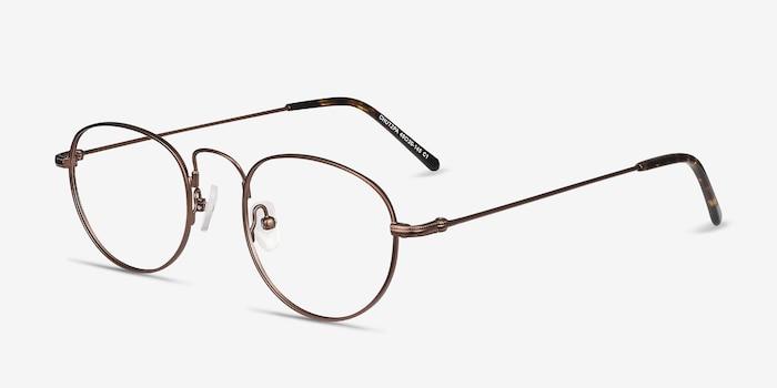 Chutzpa Coffee Metal Eyeglass Frames from EyeBuyDirect, Angle View