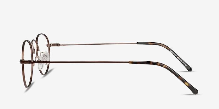 Chutzpa Coffee Metal Eyeglass Frames from EyeBuyDirect, Side View