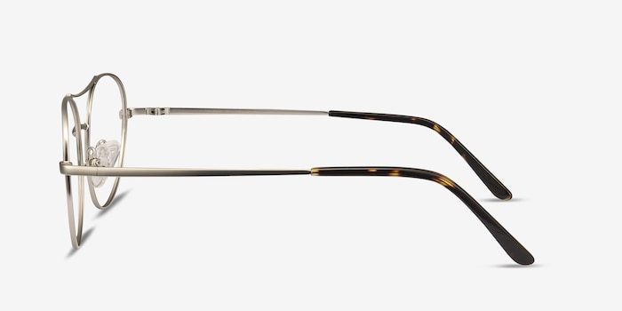 Cassini Silver Metal Eyeglass Frames from EyeBuyDirect, Side View