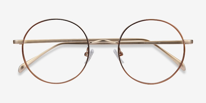Synapse Brown Metal Eyeglass Frames from EyeBuyDirect, Closed View