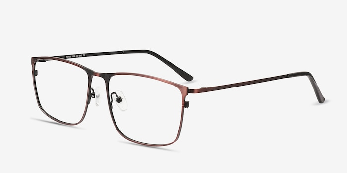 Typha Red Metal Eyeglass Frames from EyeBuyDirect, Angle View