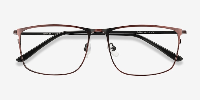 Typha Red Metal Eyeglass Frames from EyeBuyDirect, Closed View