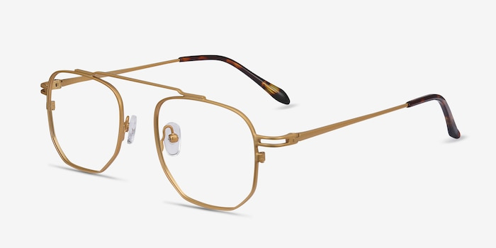 Cordon Golden Metal Eyeglass Frames from EyeBuyDirect, Angle View