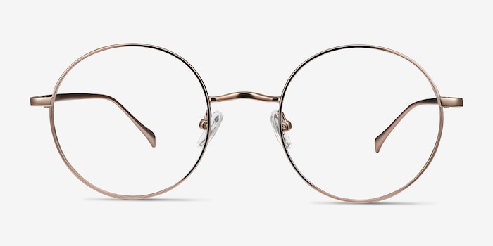 Synapse Rose Gold Metal Eyeglass Frames from EyeBuyDirect, Front View