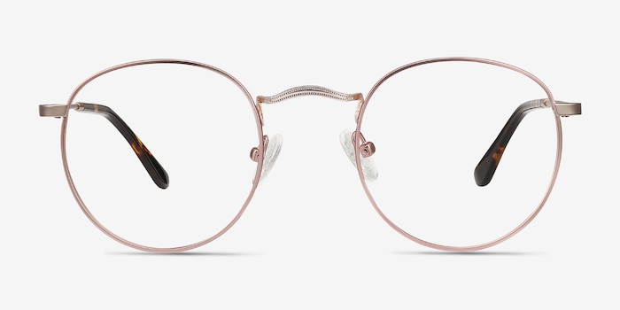 Daydream Rose Gold Metal Eyeglass Frames from EyeBuyDirect, Front View
