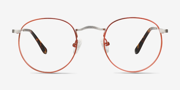Daydream Cinnamon Red Metal Eyeglass Frames from EyeBuyDirect, Front View