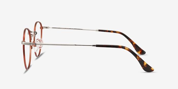 Daydream Cinnamon Red Metal Eyeglass Frames from EyeBuyDirect, Side View