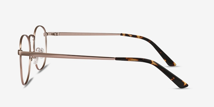 St Michel Rose Gold Metal Eyeglass Frames from EyeBuyDirect, Side View