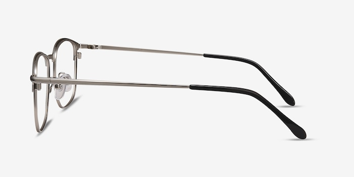 Cella Black Metal Eyeglass Frames from EyeBuyDirect, Side View