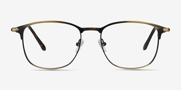 Cella Bronze Metal Eyeglass Frames from EyeBuyDirect, Front View