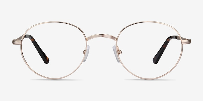 Izabel Golden Metal Eyeglass Frames from EyeBuyDirect, Front View