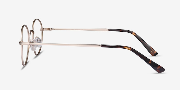 Izabel Golden Metal Eyeglass Frames from EyeBuyDirect, Side View