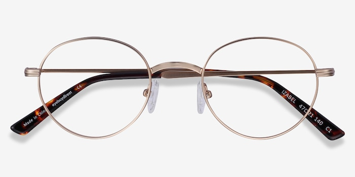 Izabel Golden Metal Eyeglass Frames from EyeBuyDirect, Closed View