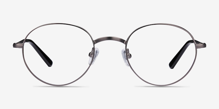 Izabel Gunmetal Metal Eyeglass Frames from EyeBuyDirect, Front View