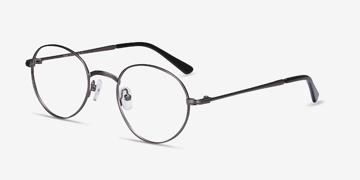 Izabel Gunmetal Metal Eyeglass Frames from EyeBuyDirect, Angle View