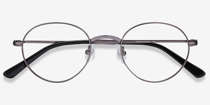 Izabel Gunmetal Metal Eyeglass Frames from EyeBuyDirect, Closed View