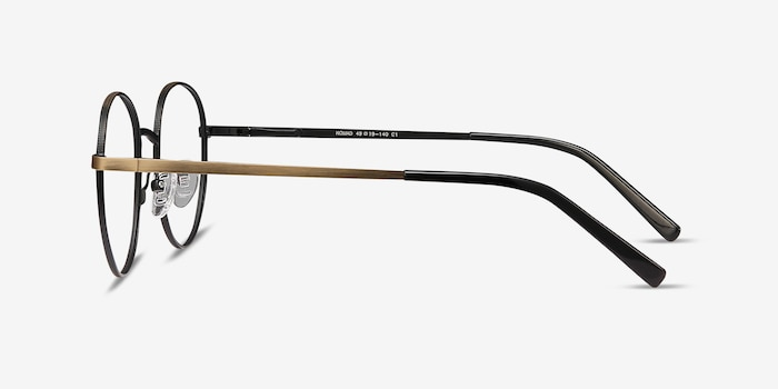 Nomad Bronze Metal Eyeglass Frames from EyeBuyDirect, Side View