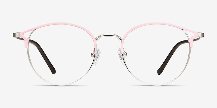 Jive Pink Metal Eyeglass Frames from EyeBuyDirect, Front View