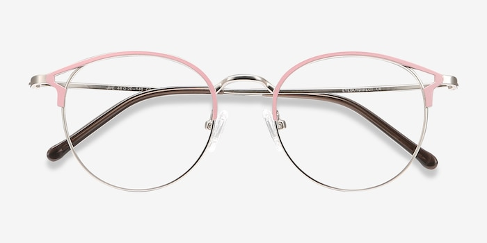 Jive Pink Metal Eyeglass Frames from EyeBuyDirect, Closed View