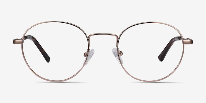 Memento Rose Gold Metal Eyeglass Frames from EyeBuyDirect, Front View