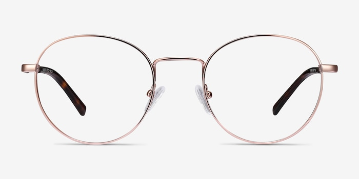 Memento Pink Golden Metal Eyeglass Frames from EyeBuyDirect, Front View