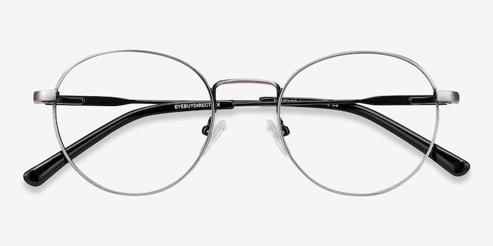 Memento Gunmetal Metal Eyeglass Frames from EyeBuyDirect, Closed View
