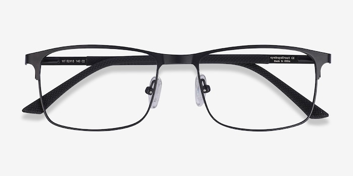 Wit Black Metal Eyeglass Frames from EyeBuyDirect, Closed View