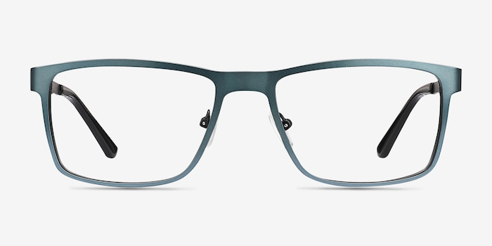 Bemuse Green  Metal Eyeglass Frames from EyeBuyDirect, Front View