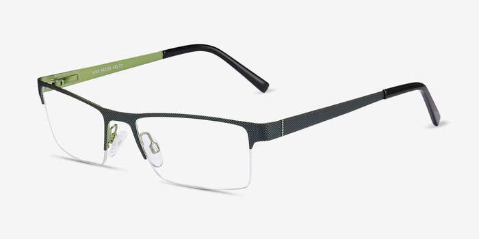 Vine Green  Metal Eyeglass Frames from EyeBuyDirect, Angle View