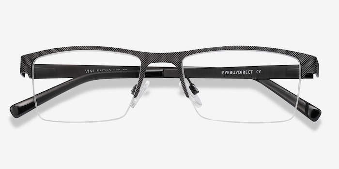 Vine Black Metal Eyeglass Frames from EyeBuyDirect, Closed View