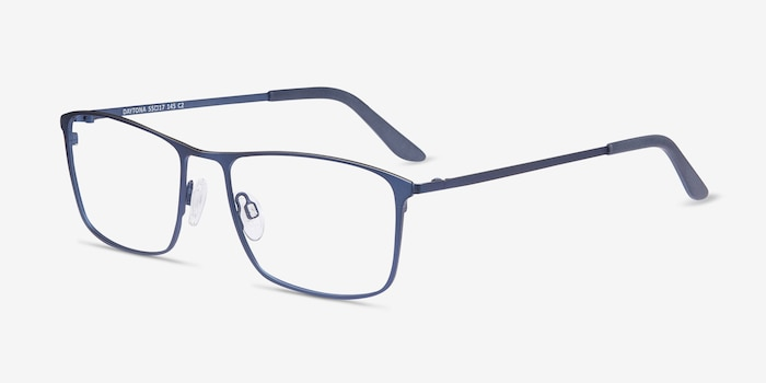Daytona Blue Metal Eyeglass Frames from EyeBuyDirect, Angle View