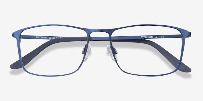 Daytona Blue Metal Eyeglass Frames from EyeBuyDirect, Closed View
