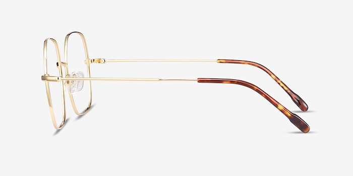 Movement Golden Metal Eyeglass Frames from EyeBuyDirect, Side View