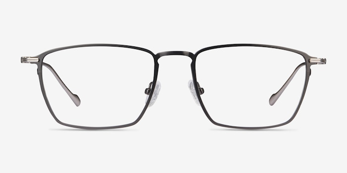 Wind Gunmetal Metal Eyeglass Frames from EyeBuyDirect, Front View