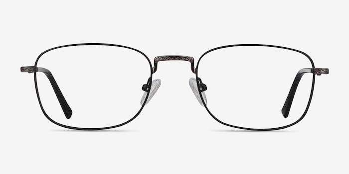 Tampa Black Metal Eyeglass Frames from EyeBuyDirect, Front View