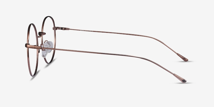 Dapper Coffee Metal Eyeglass Frames from EyeBuyDirect, Side View