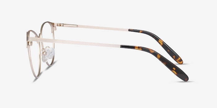 Sisi Rose Gold Metal Eyeglass Frames from EyeBuyDirect, Side View