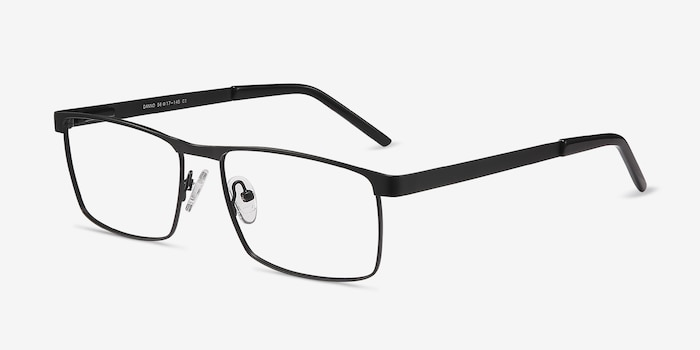 Danno Black Metal Eyeglass Frames from EyeBuyDirect, Angle View