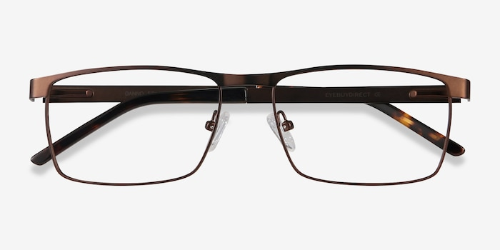 Danno Brown Metal Eyeglass Frames from EyeBuyDirect, Closed View