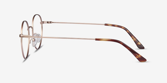 Retell Rose Gold Metal Eyeglass Frames from EyeBuyDirect, Side View