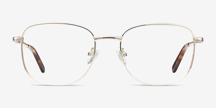 Aspect Golden Metal Eyeglass Frames from EyeBuyDirect, Front View