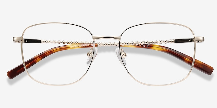 Aspect Golden Metal Eyeglass Frames from EyeBuyDirect, Closed View