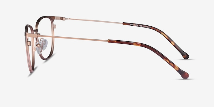Shimmer Rose Gold Metal Eyeglass Frames from EyeBuyDirect, Side View